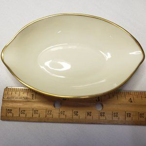 Lenox Ashtray Salt Cellar Nut Dish Gold Rim/Edge